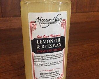 Lemon Oil & Beeswax  8oz