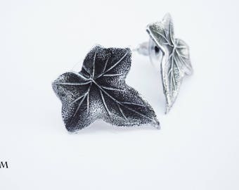Earring Ivy Leaf Sterling Silver Magical Jewelry for Women