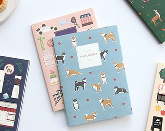 2018 Diary / Montly Sim Planner / Diary / Dated / Korean Holiday Marked
