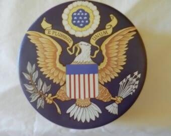 Colectors Tin, Americian Motif, The Bill Of Rights, American Eagel, E Pluribus Unum