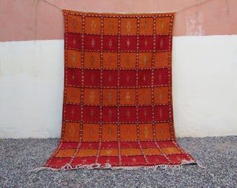 Moroccan Rug checker rug Carpet Kilim Kelim Berber Square Cultural Artistry  rug  moroccan