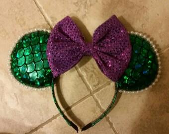 Ariel,  Little Mermaid Inspired Mickey Ears