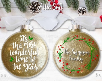 Personalized Christmas Ornament, It's the Most Wonderful Time of the Year