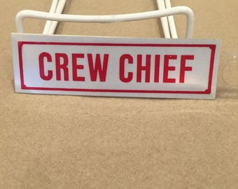 Crew Chief Text Decal