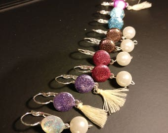 New 2 pairs of earrings twingle sparkling girls