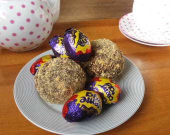 Scotch Creme Eggs, Chocolate Brownie Egg, Easter Egg, Sweet Scotch Egg, Alternative Father's Day Gift, Novelty Gift, Scotch Egg