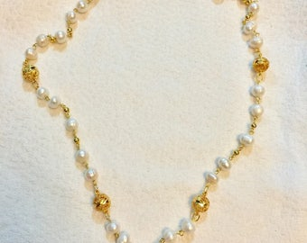 Tambourine Pearl Necklace