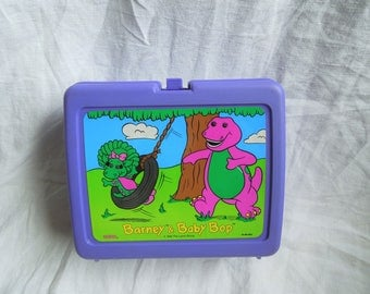 SALE 90s Barney and Baby Plastic Lunchbox