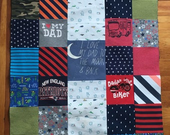 Onesie Blanket - Tshirt Blanket - Personalized Blanket - Graduation - Memorabilia - Wedding - Mother's Day - Father's Day