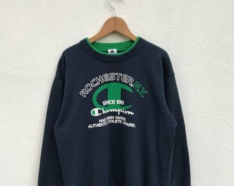 20% OFF Vintage Champion Big Logo Sweatshirt/Champion Sweater/Champion Clothing/Champion Spellout/Champion Crewneck