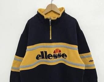 20% OFF Vintage Ellesse Half Zipper Sweater/Casual Shirt/Ellesse Sweater/Ellesse Tennis Shirt/Ellesse Sportwear