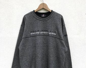 20% OFF Vintage Michiko London Jeans Embroidery Logo Sweatshirt / Michiko Spell Out / Michiko Sweater