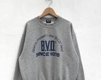 20% OFF Vintage B.V.D. Sweatshirt B.V.D. Sweater Spell Out Sweatshirt