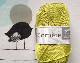 WOOL Comet lemon - white horse