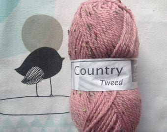 WOOL TWEED powder - white horse COUNTRY