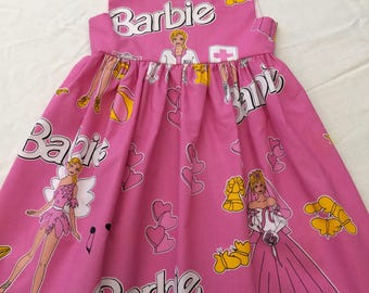 5-Year-Old Girls Retro Style Barbie Dress