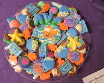 Bubble Guppies chocolates candy tray