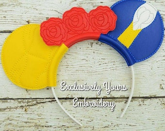 Belle and Beast Inspired Mouse Ears Headband - Photo Props