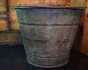 Vintage Galvanize Bucket