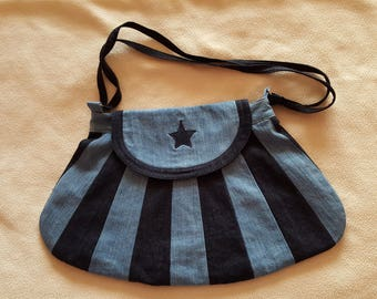 Perfect gift for a young girl two-tone denim bag