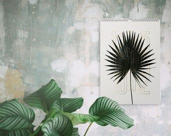 Wandkalender 2016 Plants / Calendar, Year, Scandinavian, Black and White, Puristic, Artprints, Botany