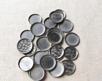 20% Off Sale 25 Assorted Watch Backs, Vintage Watch Parts, Steam Punk Supplies, Round Watch Back, Steel Watch Back, Steampunk Watch Back