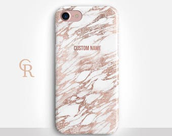 Personalized Marble Phone Case For iPhone 8 iPhone 8 Plus iPhone X Phone 7 Plus iPhone 6 iPhone 6S  iPhone SE Samsung S8 iPhone 5 custom