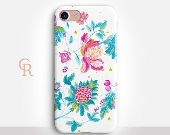 Floral Phone Case For iPhone 8 iPhone 8 Plus iPhone X Phone 7 Plus iPhone 6 iPhone 6S  iPhone SE Samsung S8 iPhone 5 Samsung S7 Edge