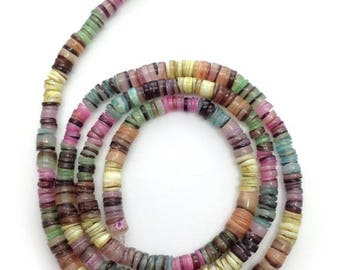 SALE 15% OFF Hammershell shell, colorful, 5mm 1 strand, heishi, shell beads, shell beads, multicolor, multicolour, 1 beach