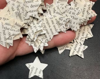 Edgar Allan Poe Stories & Poems / 200 pack / Book Page Star Confetti / Literature / Book Worm / Book Lover / Party / Wedding / Baby Shower
