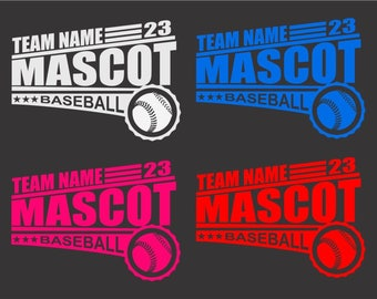 Baseball Team Decal Etsy - Team window decals personalized