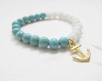 Anchor bracelet, summer bracelet, nautic bracelet