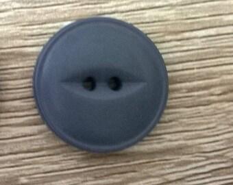 1 round button grey eye fish 20 mm