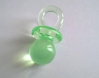 Large LOLLIPOP 30 mm plastic green blue aqua susu pendant charm