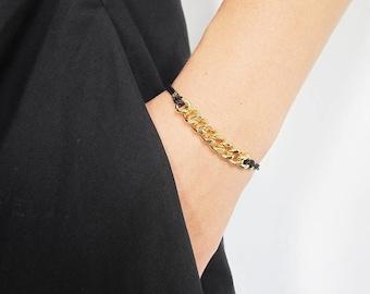 OLDSCHOOL bracelet bling bling-brass gold / rhodium plated