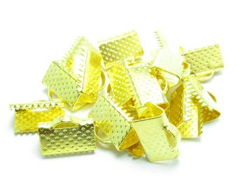 10x7mm claw CACHE gold METAL ribbon bow