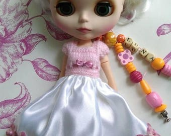 Dress/outfit/clothe doll/dollar Blythe, pullip, Barbie, monoko and other 1/6 size