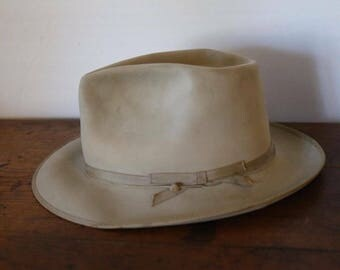 Vintage Churchill 100 Open Road-Style Fedora Hat Size 7-1/8