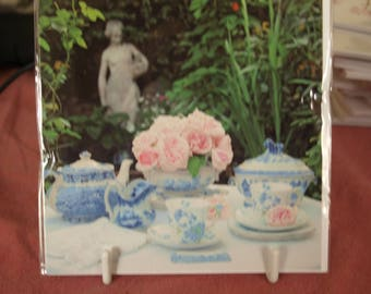 Blue and White China in the Garden General Card