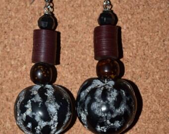 Earthy Beaded Afrocentric Earrings