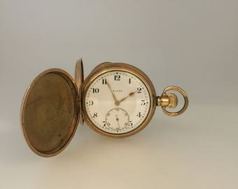 An Art Deco Pocket Watch by ROLEX. 14K Gold Filled.