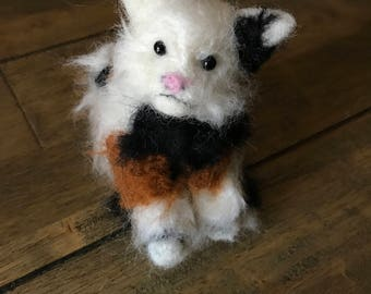 Needlefelted Long-haired Cat