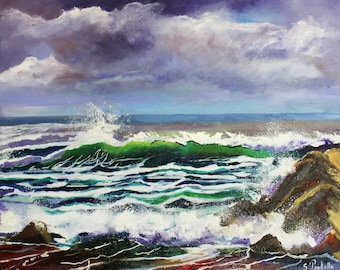 1 Painting oil painting of Brittany