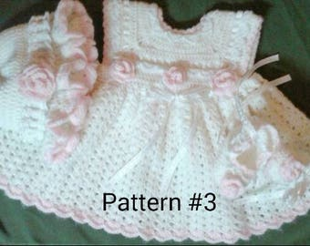 Crochet Baby Dress Pattern Baby Hat Pattern Baby Booties Patterns Crochet Pattern for Baby Girls Crochet Baby Pattern for girl Babies.