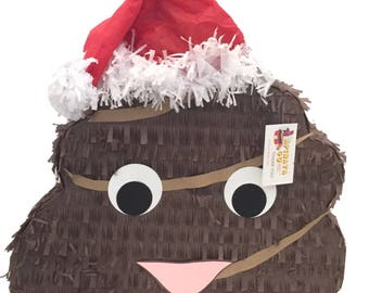 Ready to Ship Out Christmas Poop Emoticon Pinata