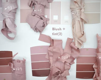 2018 Blush nude neutral swatch,solid color pantone,color palette,pastel palette pantone,seasonal color fabric swatch,wedding  ties selection