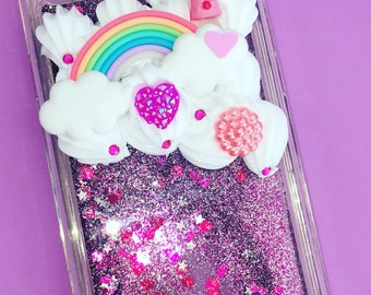 IPhone 6/6S kawaii decoden case with glitters