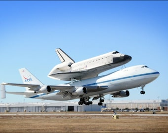 Poster, Many Sizes Available; Boeing 747 With The Space Shuttle Endeavour