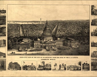 Poster Many Sizes Available Map Of Washington D C U S Capitol 1890