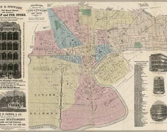 Poster, Many Sizes Available; Map Of Newark, New Jersey 1879